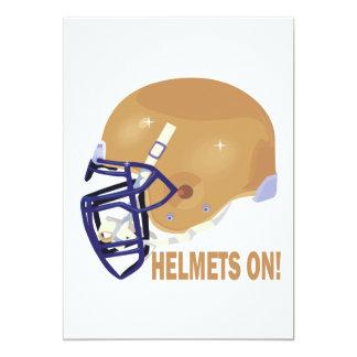 Helmets On Card