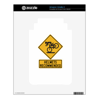 Helmets Recommended 2, Traffic Warning Sign, USA Skin For The Kindle