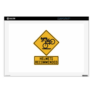Helmets Recommended 2, Traffic Warning Sign, USA Decals For Laptops