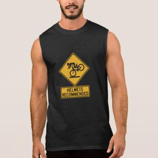 Helmets Recommended 2, Traffic Warning Sign, USA Sleeveless Shirt