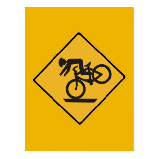 Helmets Recommended Traffic Warning Signs USA Postcards
