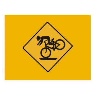 Helmets Recommended, Traffic Warning Signs, USA Postcard