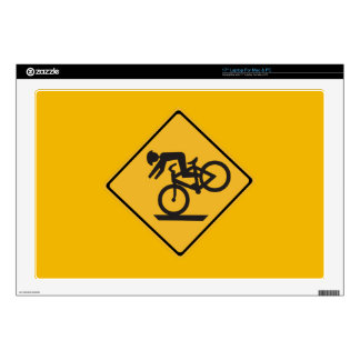 Helmets Recommended, Traffic Warning Signs, USA Skins For Laptops