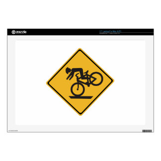 Helmets Recommended, Traffic Warning Signs, USA Laptop Skins