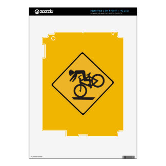 Helmets Recommended, Traffic Warning Signs, USA iPad 3 Skins