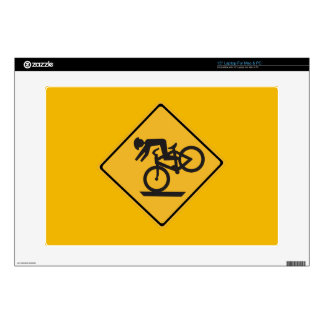 Helmets Recommended, Traffic Warning Signs, USA Laptop Decals