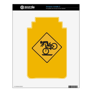 Helmets Recommended, Traffic Warning Signs, USA Decals For The Kindle 3