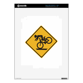 Helmets Recommended, Traffic Warning Signs, USA Skin For iPad 2