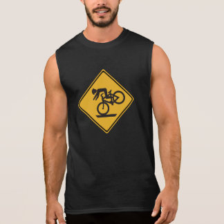 Helmets Recommended, Traffic Warning Signs, USA Sleeveless Shirt