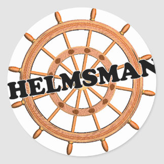 Helmsman de las trituradoras pegatina redonda
