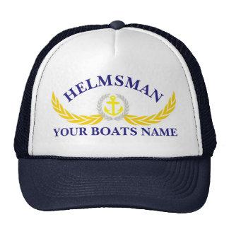 Helmsmans personalizados del adorno del ancla del gorro de camionero