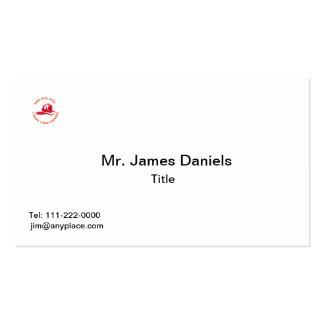 Helmut del bombero tarjetas personales