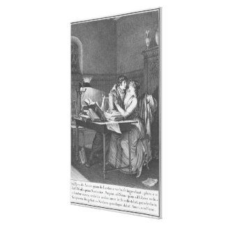 Heloise and Abelard in their study Canvas Print