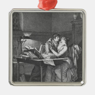 Heloise and Abelard in their study Metal Ornament