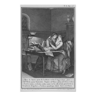Heloise and Abelard in their study Poster