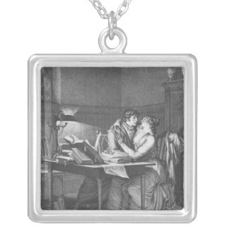 Heloise and Abelard in their study Silver Plated Necklace