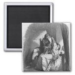 Heloise and Abelard kissing 2 Inch Square Magnet