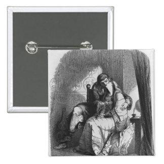 Heloise and Abelard kissing Pinback Button
