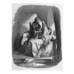 Heloise and Abelard kissing Postcard