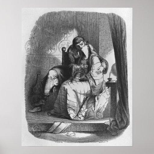 Heloise and Abelard kissing Poster