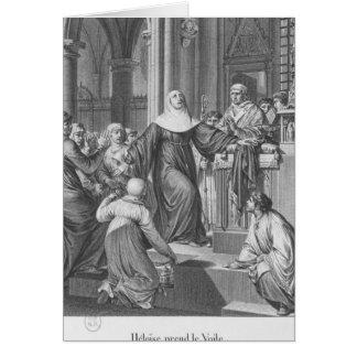 Heloise taking the veil card