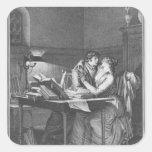 Heloise y Abelard en su estudio Calcomanías Cuadradas