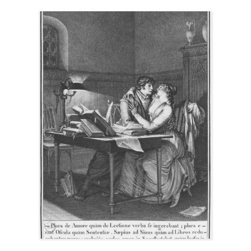 Heloise y Abelard en su estudio Tarjetas Postales