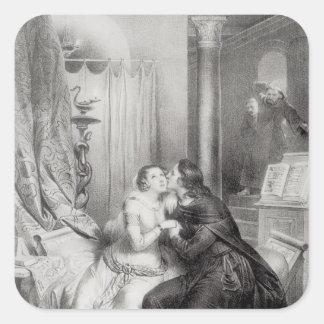 Heloise y Abelard Pegatina Cuadradas