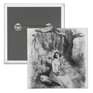 Heloise y Astrolabius Pin Cuadrada 5 Cm