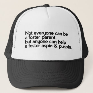 Help a Foster Aspin and Puspin Trucker Hat