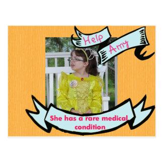 Help Amy Postcard