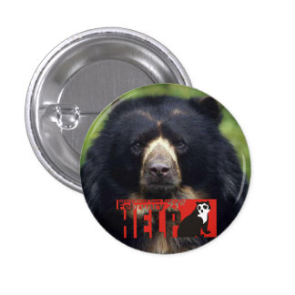 Help Andean Bears Pinback Button