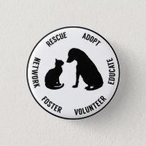 Help Animals Animal Welfare Badge Pinback Button