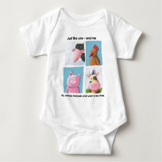 Help animals by promoting animal rights! baby bodysuit