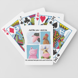 Help animals by promoting animal rights! bicycle playing cards