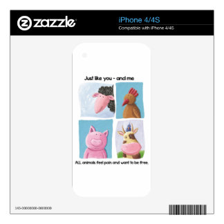 Help animals by promoting animal rights! iPhone 4 skins