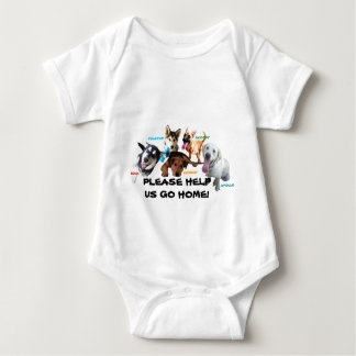 HELP ASHLEY'S DOGS TO COME HOME! BABY BODYSUIT