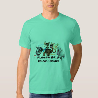HELP ASHLEY'S DOGS TO COME HOME! T-SHIRT