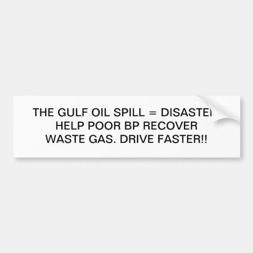 HELP BP RECOVER BUMPER STICKER