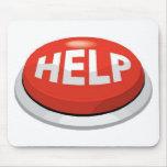 help button mouse mats