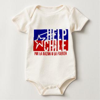 HELP CHILE Earthquake Aid Baby Bodysuit