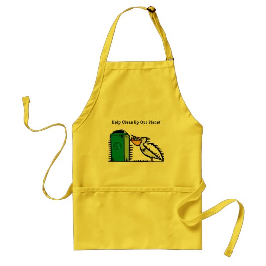 """""""Help Clean Up Our Planet"""" Adult Apron"""