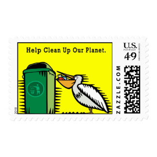 """""""Help Clean Up Our Planet"""" Stamp"""