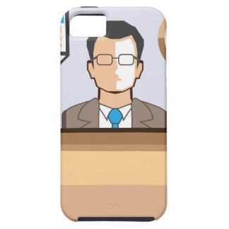 Help desk Man Calendar and Clock Vector Icon iPhone SE/5/5s Case