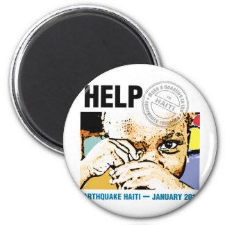 Help Donation Haiti 2 Inch Round Magnet