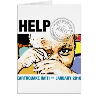 Help Donation Haiti Card
