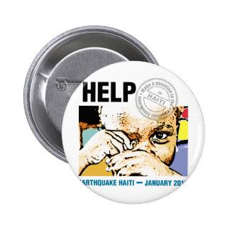 Help Donation Haiti Pinback Button