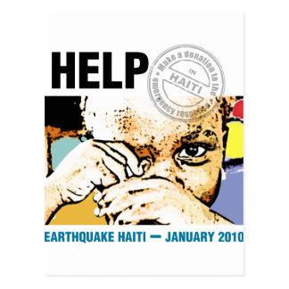 Help Donation Haiti Postcard