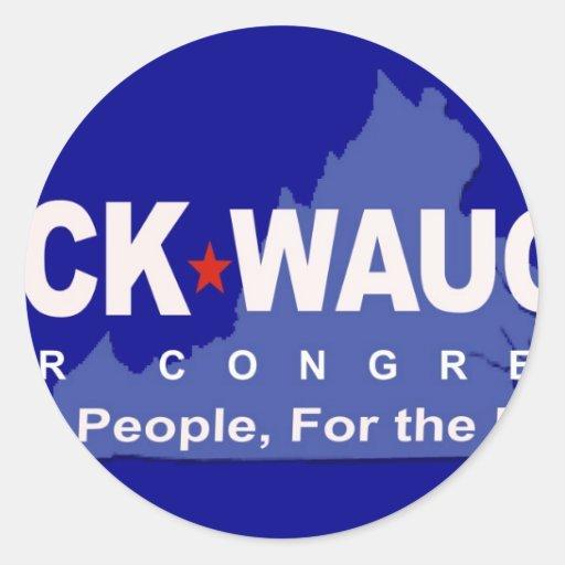 Help Dump Eric Cantor - Rick Waugh for Congress! Classic Round Sticker
