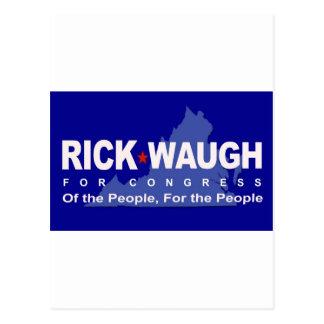 Help Dump Eric Cantor - Rick Waugh for Congress! Postcard